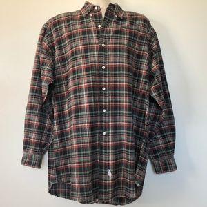 Ralph Lauren Medium The Big Shirt Flannel Plaid